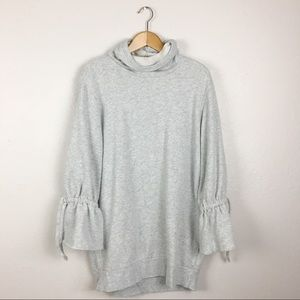 Express One Eleven Bell Sleeve Cowl Neck Sweater